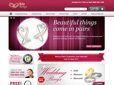 Bay Jewellers screenshot small | Portfolio
