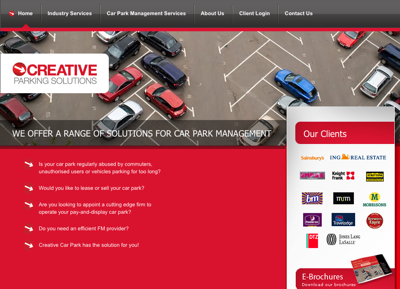 Creative Parking Solutions screenshot small | Portfolio